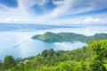 Lake toba scenery from top view Royalty Free Stock Images