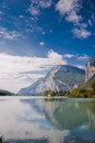 Lake Toblino and Toblino Castle. Trentino, Italy. Royalty Free Stock Image