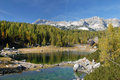 Lake in triglav national park Royalty Free Stock Image