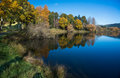 Lake Tutira in autumn. Hawke's Bay. New Zealand Royalty Free Stock Photo
