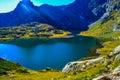 Lake Twin , One of the famous seven lakes in mountain Rila, Bulgaria