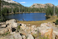 Lake in Uinta mountains Royalty Free Stock Photo