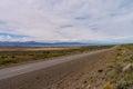Lake viedma endless road argentina patagonia Stock Image