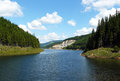 Lake view afternoon of oasa in romania Royalty Free Stock Photos