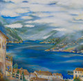 Lake view on como in italy Royalty Free Stock Photos