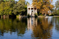 Lake Villa Borghese in Rome Royalty Free Stock Photography