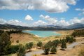 Lake Vinuela, Andalusia, Spain. Royalty Free Stock Image