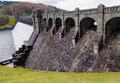 Lake vyrnwy dam in early spring llanwddyn wales Stock Images