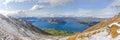 Lake Wanaka panorama, New Zealand Royalty Free Stock Photo