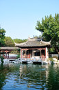 The lake waterside pavilion this is in jiangsu province president of nanjing china historical scenic area house west garden has a Royalty Free Stock Image