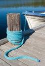 A lake wharf Stock Photography