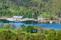 Lake windermere from gummers how view of in district national park cumbria england Royalty Free Stock Photography