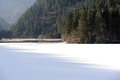 Lake in winter in jiuzhaigou sichuan china Stock Photos