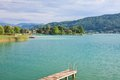Lake worth carinthia austria worthersee Stock Photo