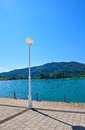 Lake worth worthersee austria view of the Royalty Free Stock Image