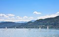 Lake worth worthersee austria view of the Stock Images