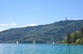 Lake worth worthersee austria view of Royalty Free Stock Image
