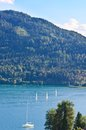 Lake worth worthersee austria view of Royalty Free Stock Photography