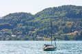 Lake worth worthersee austria view of Stock Image