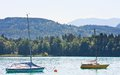 Lake worth worthersee austria view of Royalty Free Stock Images