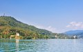 Lake worthersee in carinthia austria view of Royalty Free Stock Photo