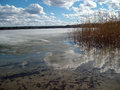 Lake Yalchik in the early spring Royalty Free Stock Photo