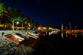 Lakefront a night view of verbania Royalty Free Stock Photography