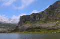Lakes of Covadonga in Asturias. Royalty Free Stock Photo