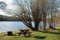 Lakeside Campsite Royalty Free Stock Photo