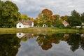 Lakeside cottages Royalty Free Stock Photo