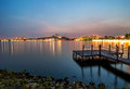 Lakeside with jetty in putrajaya malaysia landscape of view picc by the Stock Photo