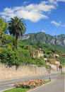 Lakeside road gardesana, garda lake. mediterranean landscape ita Royalty Free Stock Photo