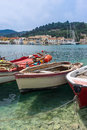 Lakka bay on the island of paxos Royalty Free Stock Images