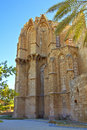 Lala mustafa pasha mosque also st nicholas cathedral in famagusta cyprus historical gothic building of the Royalty Free Stock Photo