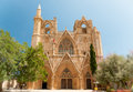 Lala mustafa pasha mosque formerly st nicholas cathedral famagusta northern cyprus front view Royalty Free Stock Photography