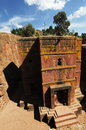 Lalibela church of st george Royalty Free Stock Images