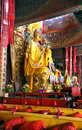 Lama temple of beijing china on the altar is tsongkhapa in the Royalty Free Stock Image