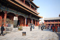Lama temple in beijing china march tourists and monks yonghegong on march it s one of the largest and most Royalty Free Stock Photos