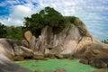 Lamai beach rocks Royalty Free Stock Photo