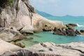 Lamai beach samui stone at part of thailand Stock Photography