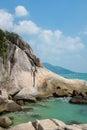 Lamai beach samui stone at part of thailand Royalty Free Stock Image