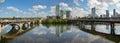 Lamar bridge and downtown Austin Texas Royalty Free Stock Photo