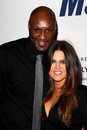 Lamar Odom, Khloe Kardashian arrives at the 19th Annual Race to Erase MS gala Stock Photo