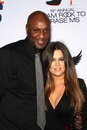 Lamar Odom and wife Khloe Kardashian at the 19th Annual Race To Erase MS, Century Plaza, Century City, CA 05-19-12 Royalty Free Stock Photo