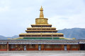 Lamasery golden pagoda Stock Photo