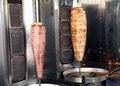 Lamb and chicken doner kebab cooking at a turkish restaurant in kusadasi turkey Royalty Free Stock Photography