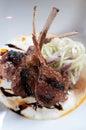 Lamb chop appetizer Royalty Free Stock Photo