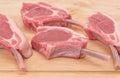 Lamb chop cutlets Royalty Free Stock Photo