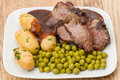 Lamb chop dinner Royalty Free Stock Photos