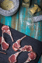 Lamb chop photograph of meats Royalty Free Stock Images